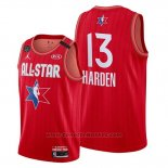 Maglia All Star 2020 Houston Rockets James Harden #13 Rosso
