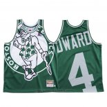 Maglia Boston Celtics Carsen Edward #4 Mitchell & Ness Big Face Verde