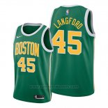 Maglia Boston Celtics Romeo Langford #45 Earned 2019-20 Verde