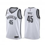 Maglia Brooklyn Nets Donta Hall #45 Association 2020 Bianco