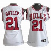 Maglia Donna Chicago Bulls Jimmy Butler #21 Bianco