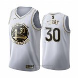 Maglia Golden Edition Golden State Warriors Stephen Curry #30 Bianco