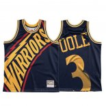 Maglia Golden State Warriors Jordan Poole #3 Mitchell & Ness Big Face Blu