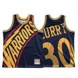 Maglia Golden State Warriors Stephen Curry #30 Mitchell & Ness Big Face Blu