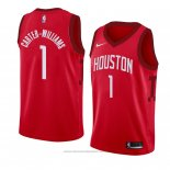 Maglia Houston Rockets Michael Carter Williams #1 Earned 2018-19 Rosso