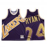 Maglia Los Angeles Lakers Kobe Bryant #24 Mitchell & Ness Big Face Viola