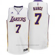 Maglia Los Angeles Lakers Larry Nance Jr. #7 Bianco