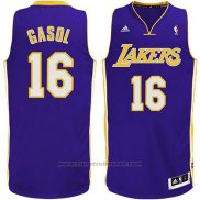 Maglia Los Angeles Lakers Pau Gasol #16 Viola
