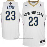 Maglia New Orleans Pelicans Anthony Davis #23 Bianco