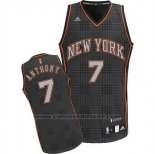 Maglia Ritmo Moda New York Knicks Carmelo Anthony #7 Nero