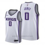 Maglia Sacramento Kings Justin James #0 Association 2019-20 Bianco