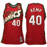 Maglia Seattle SuperSonics Shawn Kemp #40 Historic Retro Rosso