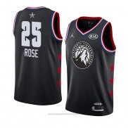 Maglia All Star 2019 Minnesota Timberwolves Derrick Rose #25 Nero