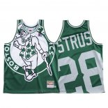 Maglia Boston Celtics Max Strus #28 Mitchell & Ness Big Face Verde