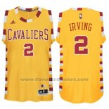 Maglia Cleveland Cavaliers Kyrie Irving #2 Retro Giallo