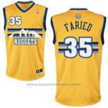 Maglia Denver Nuggets Kenneth Faried #35 Giallo