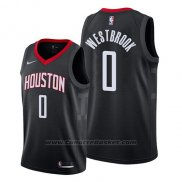 Maglia Houston Rockets Russell Westbrook #0 Statement 2019 Nero