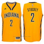 Maglia Indiana Pacers Rodney Stuckey #2 Giallo