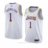 Maglia Los Angeles Lakers Kentavious Caldwell Pope #1 Association 2018-19 Bianco
