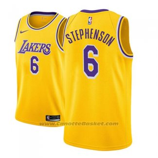 Maglia Los Angeles Lakers Lance Stephenson #6 Icon 2018-19 Or