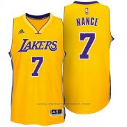 Maglia Los Angeles Lakers Larry Nance Jr. #7 Giallo