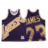 Maglia Los Angeles Lakers Lebron James #23 Mitchell & Ness Big Face Viola