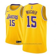 Maglia Los Angeles Lakers Moritz Wagner #15 Icon 2018-19 Or