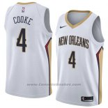 Maglia New Orleans Pelicans Charles Cooke #4 Association 2018 Bianco