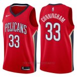 Maglia New Orleans Pelicans Dante Cunningham #33 Statement 2017-18 Rosso