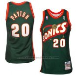 Maglia Seattle SuperSonics Gary Payton #20 Historic Retro Verde