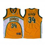 Maglia Seattle SuperSonics Ray Allen #34 Historic Giallo