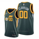 Maglia Utah Jazz Jordan Clarkson #00 Earned Edition Verde