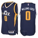 Maglia Utah Jazz Nigel Williams-Goss #0 Road Blu