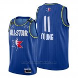 Maglia All Star 2020 Atlanta Hawks Trae Young #11 Blu