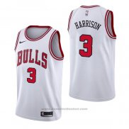 Maglia Chicago Bulls Shaquille Harrison #3 Association Bianco