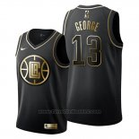 Maglia Golden Edition Los Angeles Clippers Paul George #13 Nero