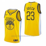 Maglia Golden State Warriors Draymond Green #23 Earned 2018-19 Giallo