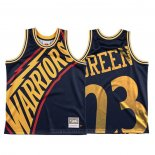 Maglia Golden State Warriors Draymond Green #23 Mitchell & Ness Big Face Blu