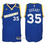 Maglia Golden State Warriors Kevin Durant #35 Blu