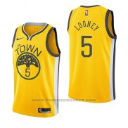 Maglia Golden State Warriors Kevon Looney #5 Earned 2018-19 Giallo