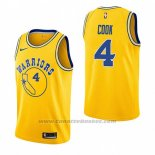 Maglia Golden State Warriors Quinn Cook #4 Hardwood Classic 2018-19 Giallo