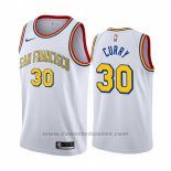 Maglia Golden State Warriors Stephen Curry #30 Classic 2019-20 Bianco