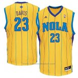 Maglia Historic New Orleans Hornets Anthony Davis #23 Giallo