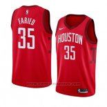 Maglia Houston Rockets Kenneth Faried #35 Earned 2018-19 Rosso