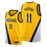 Maglia Indiana Pacers Domantas Sabonis #11 Statement Edition Giallo