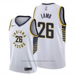 Maglia Indiana Pacers Jeremy Lamb #26 Association Bianco