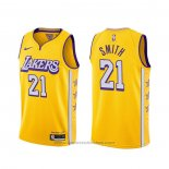 Maglia Los Angeles Lakers J.r. Smith #21 Citta 2020 Giallo