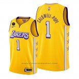 Maglia Los Angeles Lakers Kentavious Caldwell-Pope #1 Citta Giallo