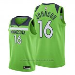 Maglia Minnesota Timberwolves James Johnson #16 Statement 2019-20 Verde