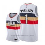 Maglia New Orleans Pelicans Zion Williamson #1 Earned 2019-20 Bianco